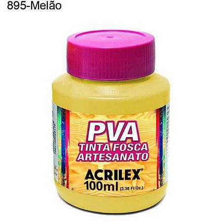 Tinta PVA Fosca para Artesanato Cor 895 Melão 100ml Acrilex
