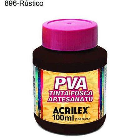 Tinta PVA Fosca para Artesanato Cor 896 Rustico 100ml Acrilex