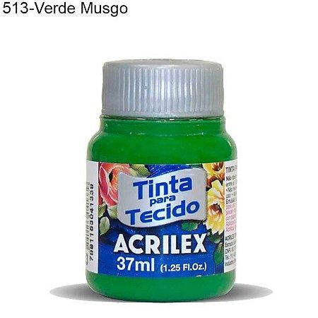 Tinta para Tecido 37ml Cor 513 Verde Musgo Acrilex