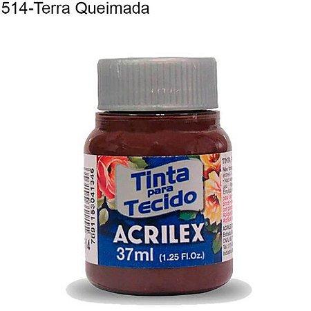 Tinta para Tecido 37ml Cor 514 Terra Queimada Acrilex