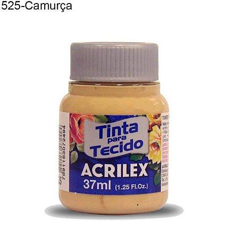 Tinta para Tecido 37ml Cor 525 Camurça Acrilex