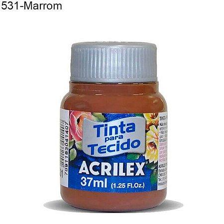 Tinta para Tecido 37ml Cor 531 Marrom Acrilex