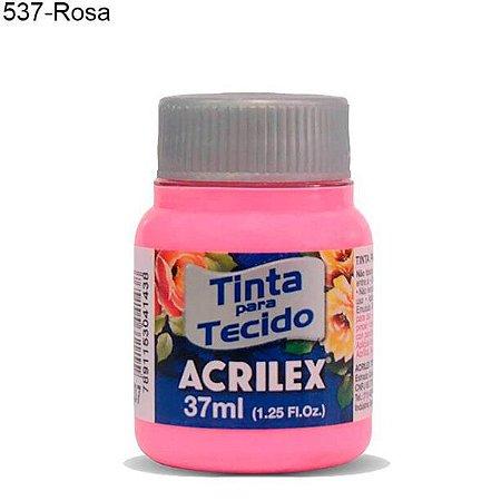 Tinta para Tecido 37ml Cor 537 Rosa Acrilex