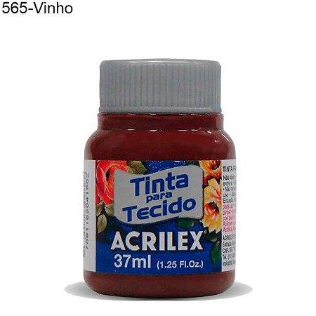 Tinta para Tecido 37ml Cor 565 Vinho Acrilex