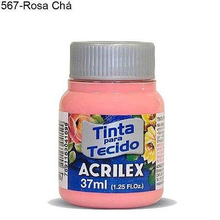 Tinta para Tecido 37ml Cor 567 Rosa Chá Acrilex