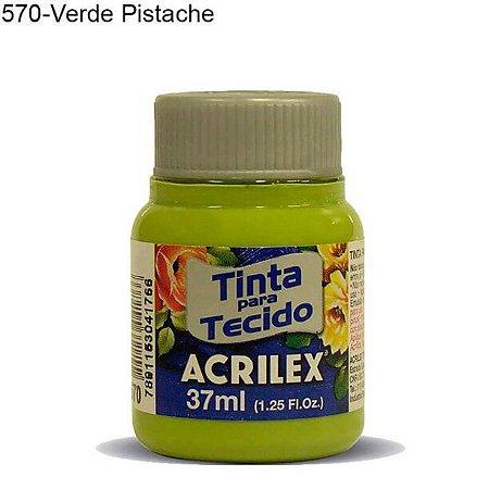 Tinta para Tecido 37ml Cor 570 Verde Pistache Acrilex