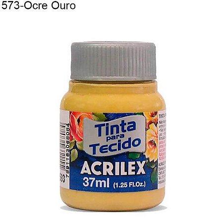 Tinta para Tecido 37ml Cor 573 Ocre Ouro Acrilex