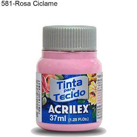 Tinta para Tecido 37ml Cor 581 Rosa Ciclame Acrilex