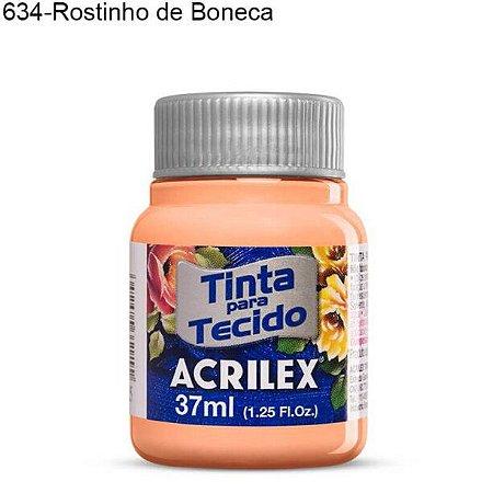 Tinta para Tecido 37ml Cor 634 Rostinho de Boneca  Acrilex