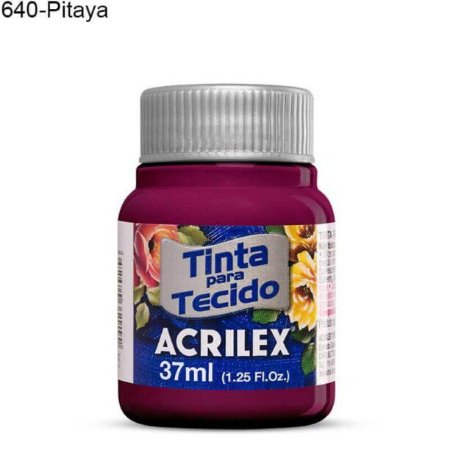 Tinta para Tecido 37ml Cor 640 Pitaya  Acrilex
