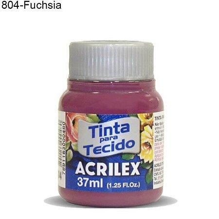 Tinta para Tecido 37ml Cor 804 Fuchsia  Acrilex