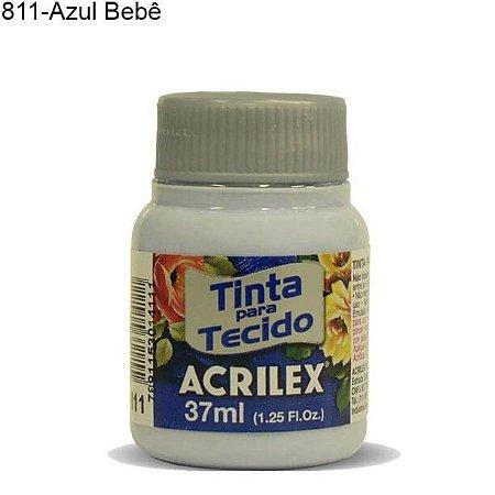 Tinta para Tecido 37ml Cor 811 Azul Bebê  Acrilex