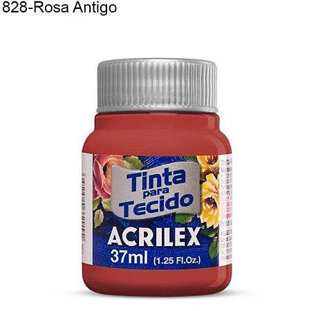 Tinta para Tecido 37ml Cor 828 Rosa Antigo  Acrilex