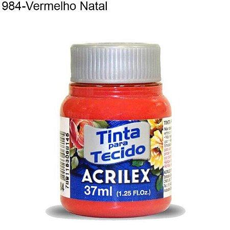 Tinta para Tecido 37ml Cor 984 Vermelho Natal  Acrilex