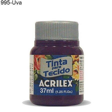 Tinta para Tecido 37ml Cor 995 Uva  Acrilex