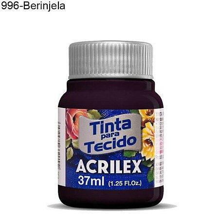 Tinta para Tecido 37ml Cor 996 Beringela  Acrilex