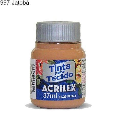 Tinta para Tecido 37ml Cor 997 Jatobá  Acrilex