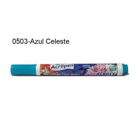 Caneta para Tecido Acrilpen Cor 0503 Azul Celeste Acrilex