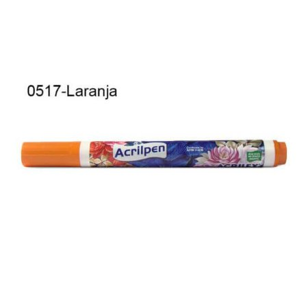 Caneta para Tecido Acrilpen Cor 0517 Laranja Acrilex