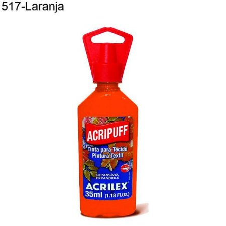 Tinta para Tecido Acripuff 35ml Cor 517 Laranja Acrilex