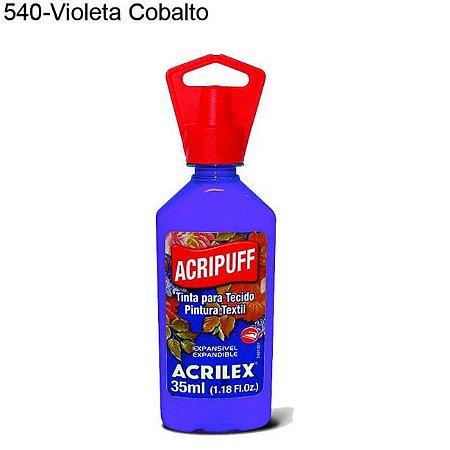 Tinta para Tecido Acripuff 35ml Cor 540 Violeta Cobalto Acrilex