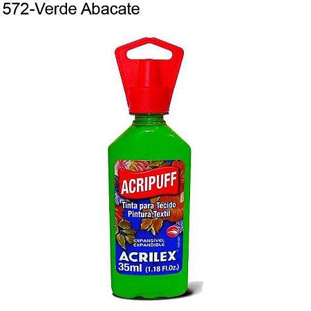 Tinta para Tecido Acripuff 35ml Cor 572 Verde Abacate Acrilex