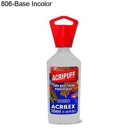 Tinta para Tecido Acripuff 35ml Cor 806 Base Incolor Acrilex