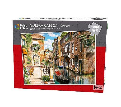 Quebra Cabeça Veneza 1.000 Peças 7266 Pais & Filhos