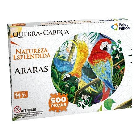 Quebra Cabeça Redondo Araras 500 Peças 0935 Pais & Filhos