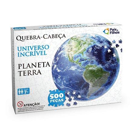 Quebra Cabeça Redondo Planeta Terra 500 Peças 10764 Pais & Filhos