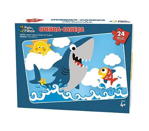 Quebra Cabeça Tubarão 24 Peças 0998 Pais & Filhos