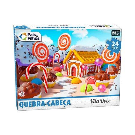 Quebra Cabeça Vila Doce 24 Peças 10771 Pais & Filhos