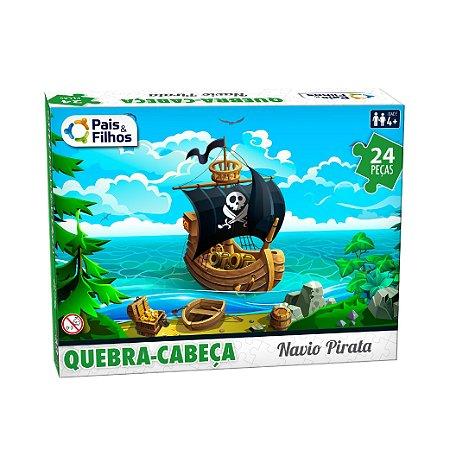 Quebra Cabeça Navio Pirata 24 Peças 10770 Pais & Filhos