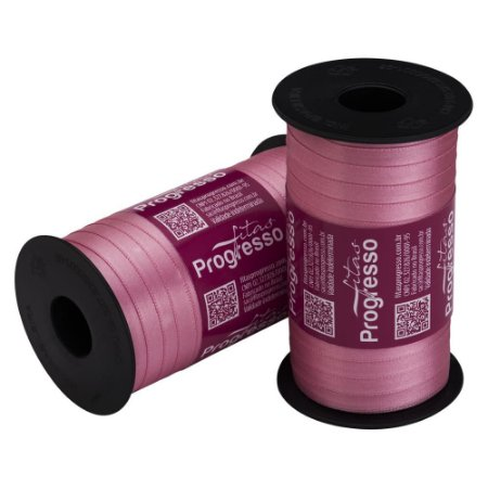 Fita Cetim Progresso N° 1 (07mm) Cor 240 Rosa Escuro Face Simples 100 metros