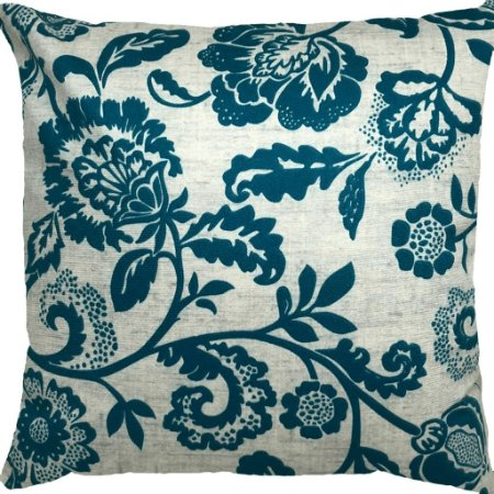 Capa Almofada Veludo Floral Tiffany e Cinza