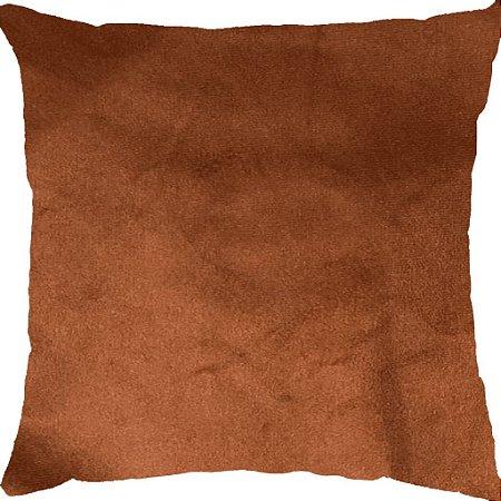 Capa Almofada Veludo Terracota Liso