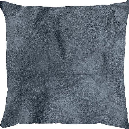 Capa Almofada Veludo Pena Azul Escuro