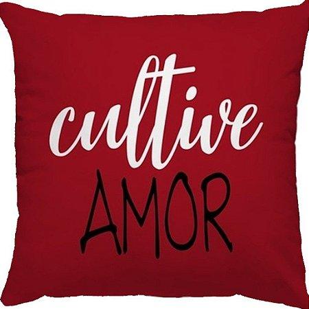Capa Almofada Cultive Amor Vermelha