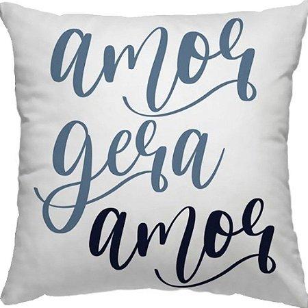 Capa Almofada Candy Amor Gera amor Azul