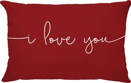 Capa Almofada Retangular I Love You Vermelha