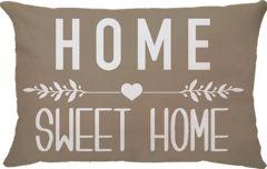 Capa Almofada Retangular Home Sweet Home - Bege