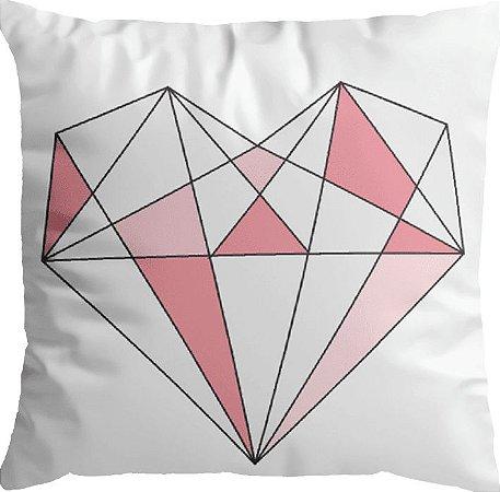 Capa Almofada Coração Geométrico
