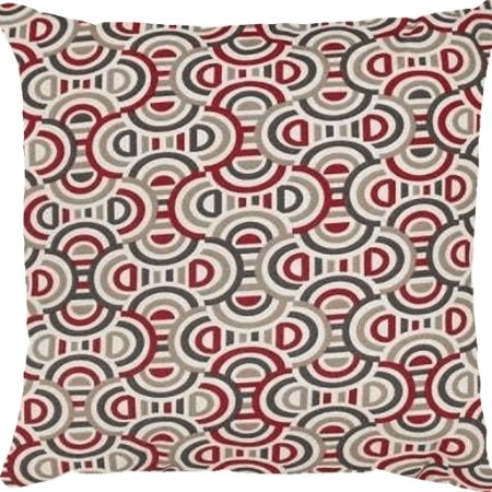 Capa Belize Geométricas Vermelha/ Cinza