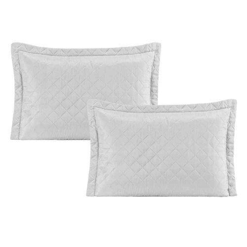 Kit 2 Porta travesseiro Pastilha - Branco