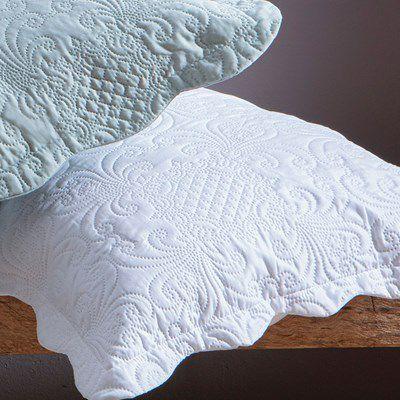 Kit 2 Porta travesseiro Milão  Arabesco - Branco