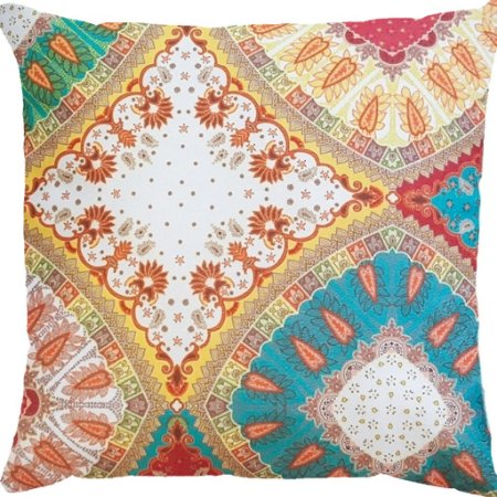 Capa Almofada Veludo Mandalas Colors Velfit
