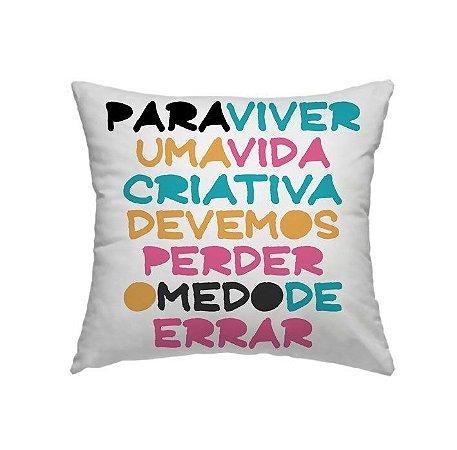 Capa Almofada Frases Coloridas