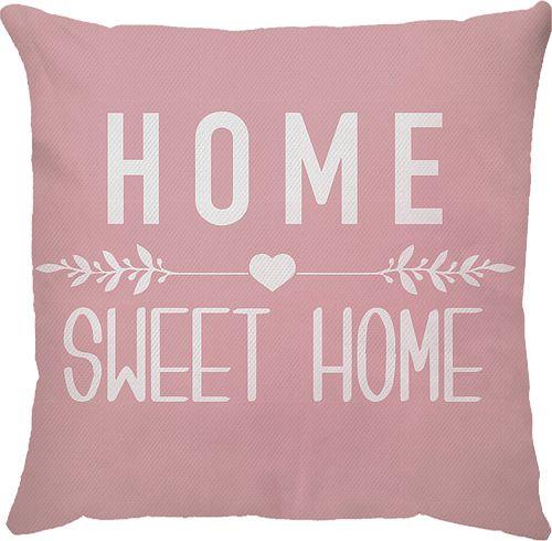 Capa Almofada Home Sweet Home Rosa