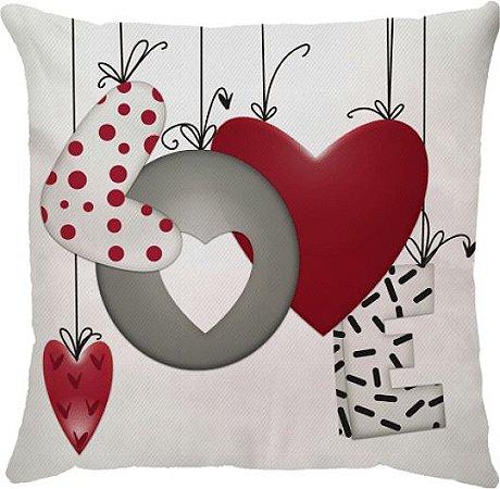Capa Almofada Love Balão Vermelho