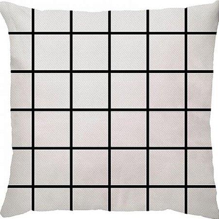 Capa Almofada Personalizada Grid Branca